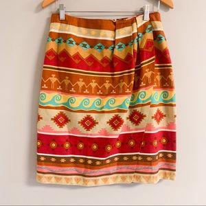 Vintage   80s   Aztec patterned skirt and vest